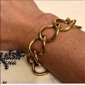 VTG-MONET-Gold Chain Bangle Costume Bracelet